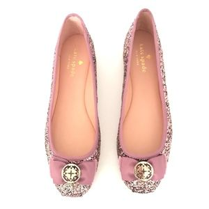 Kate Spade Womens Fontana Too Glitter Flate Sz 7.5
